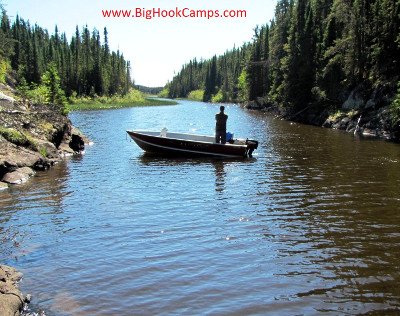 Big Hook Wilderness Camps Outpost on Burnt Lake