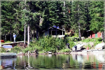 Allanwater Bridge Lodge Outpost on Burntrock Lake