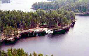 Snowshoe Island Outpost on Snowshoe Lake
