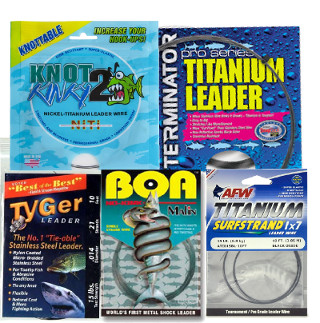Tyable Titanium and Stainless Steel Leader Line