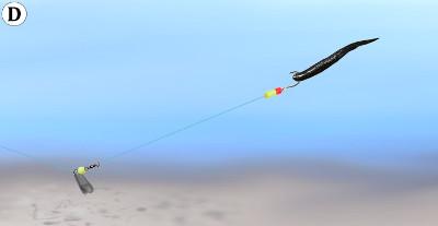 25-1//4 oz Lindy//Roach Rig Walking Slip Sinker//Sliding Fishing Weight//Walleye